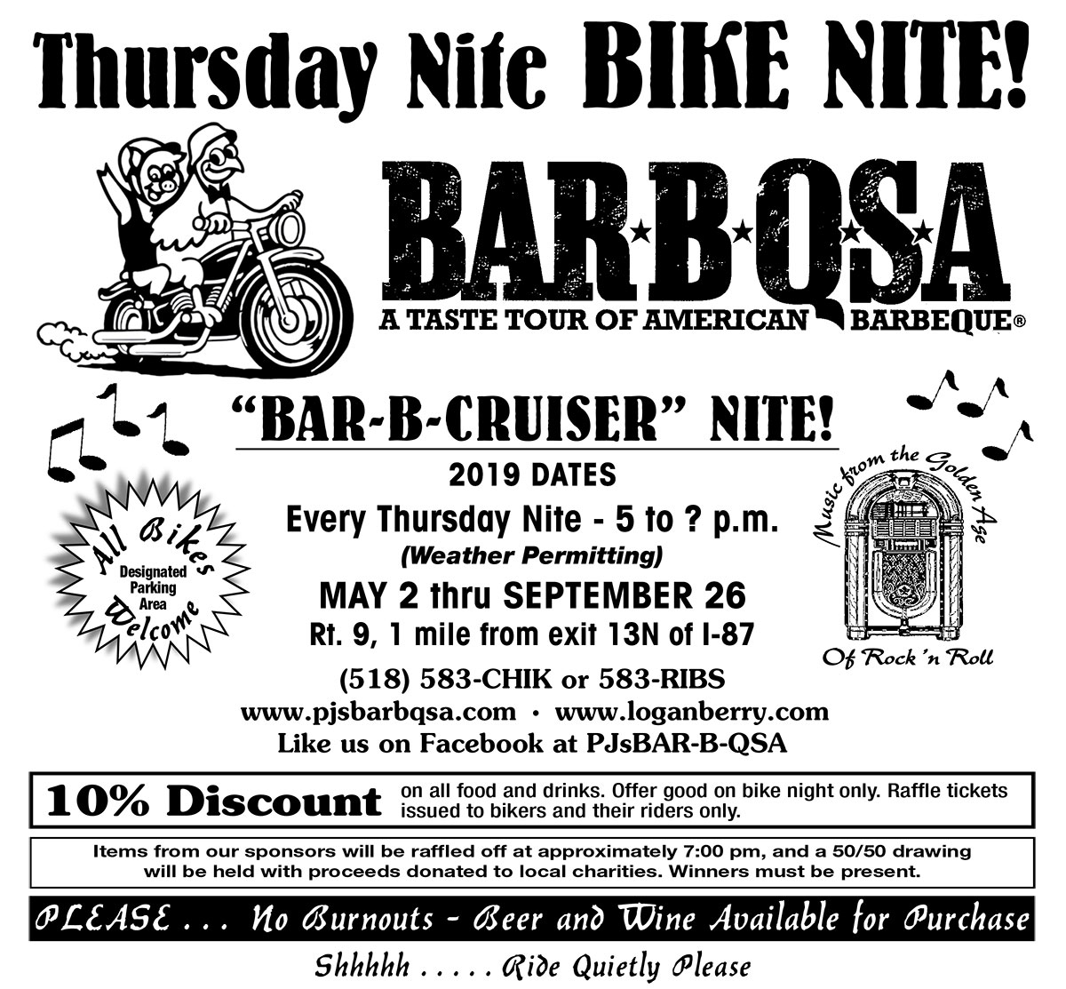 317384f5cfc Bike Night - PJ's BAR-B-QSA